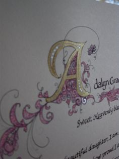 Reserved. Custom calligraphy 11x14 Hand by ashleychristines