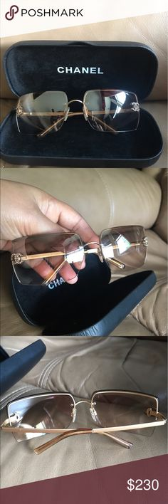 Authentic chanel rimless sunglases Pre-owned 100% authentic chanel sunglases. In good condition No scratches Comes with box Please check all the pictures before purchasing.no trade❌❌❌ CHANEL Accessories Glasses