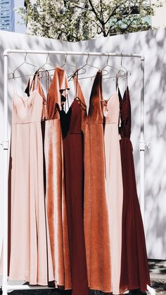 Simply stunning hues of rust red and burgundy! Jenny Yoo Collection Bridesmaids,… Simply stunning hues of rust red and burgundy! Winter Bridesmaids, Velvet Bridesmaid Dresses, Bridesmaid Dresses Under 100, Wedding Bridesmaids, Wedding Dresses, Burgundy Wedding Guest Dress, Bohemian Bridesmaid, Bridesmaid Dress Colors, Dresses Short