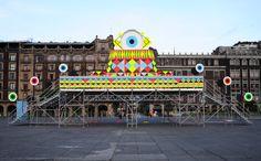 morag myerscough & luke morgan add immersive camera obscura to mexico city square