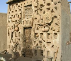 Mali. This house is in Sanga (Sanga/Sangha is a group of 13 villages in the Dogon Country region of Mali, lying east of Bandiagara at the top of an escarpment)