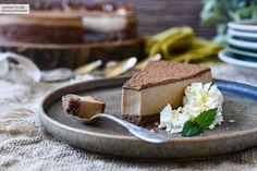 Esta tarta de queso y café sin horno nos tiene enganchados, receta con vídeo incluido Cheesecakes, Tiramisu, Mousse, Panna Cotta, Deserts, Pie, Pudding, Coffee, Cooking