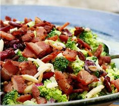Broccoli And Bacon Salad ~ Salad, Croutons, Breadsticks... (1) From: Recipe Tipster, please visit