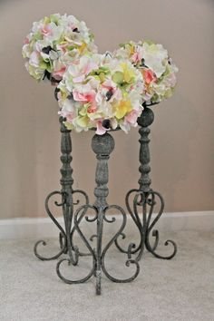DIY Candlestick Topiary