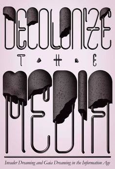 'Decolonize the media' by István Szugyiczky - Illustration, Graphic Design, Typography from Hungary