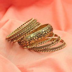 Indian Jewelry Floral Bollywood Oxidized Bangles Bracelet Sizes 2-4/2-6/2-8 #DesaiJewellers #Bangle