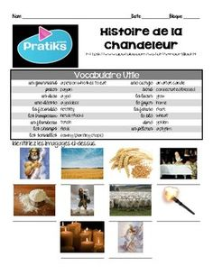 French Intermediate Interpretive Listening activity/video: