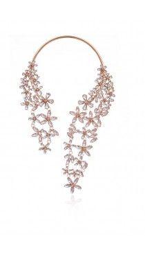 Floral Collar Necklace - Gold - Front - JWL106