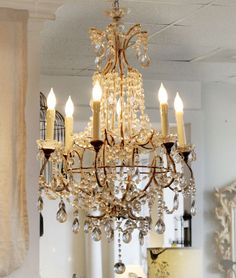 Antique Italian chandelier for dining room Chandelier Bougie, Lantern Chandelier, Chandelier Lighting, Candelabra, Crystal Chandeliers, Lanterns, Italian Chandelier, Antique Chandelier, Lustre Antique