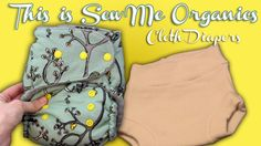 This is Sew Me Organics cloth diaper review and video.  Cute fabrics and charcoal bamboo soakers