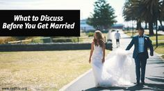 Marriage is a huge step, and there are a lot of discussions you need to have before you tie the knot. Learn what you need to talk about before you walk down the aisle.