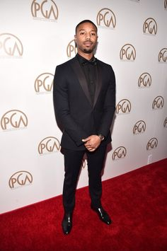 Pin for Later: Hot Hollywood Stars Turn Heads at the Producers Guild Awards Michael B. Jordan