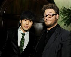 Jay Chou with his co-star Seth Rogan in the Green Hornet.