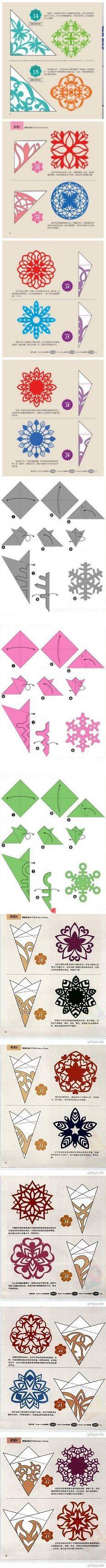simge в Pinterest   Снежинки, Бумажные Снежинки и Бумага