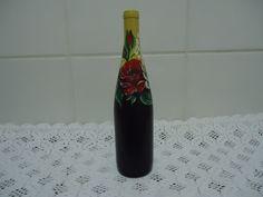 Garrafa de Vinho Rosas por R$ 23,50. Acesse www.elo7.com.br/ateliepintaecola