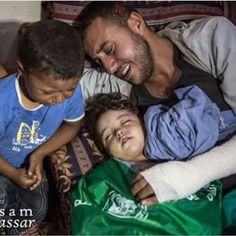 """Repost @fatmaby01 """"Yesterday we were four today we became two"""" This is what Yehya Hassan had to tell his young son today, after an Israeli air strike in eastern Gaza killed Yehya's pregnant wife, Noor, and their two year old daughter."""