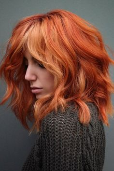 If you don't want to let go of your Halloween hair, then you might want to have this pumpkin shag hair created by hairstyle educator Meg Schipani (@shmeggsandbaconn). Hit the link to check out our list of trendy medium shag haircuts. #mediumshaghaircuts #shaggyhairstyles Latest Hairstyles, Shag Hairstyles, Haircuts For Medium Length Hair, Medium Shag Haircuts, Women In Years, Shaggy Hair, Hair Cuts, Best Pumpkin, Halloween Hair
