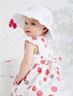 Vestido de cerimónia em cetim, para bebé menina