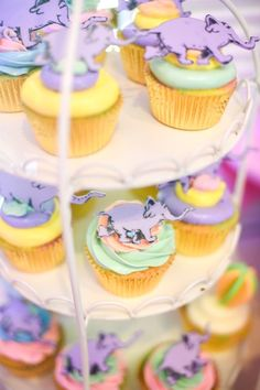 """Cupcakes from an """"Oh the Places You'll Go"""" Dr. Seuss Birthday Party on Kara's Party Ideas 