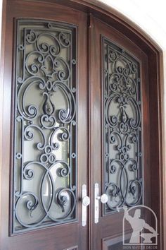 Best Ideas For Wrought Iron Front Door Glasses Barn Style Interior Doors, Window Grill Design, Wrought Iron, Front Door, Doors And Hardware, Wrought Iron Front Door, Wooden Door Hangers, Yellow Front Doors, Steel Doors