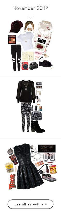 """November 2017"" by cupkatyk ❤ liked on Polyvore featuring Tommy Hilfiger, The Kooples, River Island, Steve Madden, RE/DONE, Casa Reale, Huda Beauty, Moleskine, Forever 21 and Various Projects"