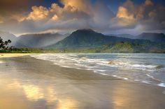 The beach of #Hanalei Bay, #Kauai