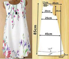 Summer Dress Patterns, Girl Dress Patterns, Skirt Patterns Sewing, Clothing Patterns, Redo Clothes, Shift Dress Pattern, Denim Crafts, Recycled Denim, Fashion Sewing