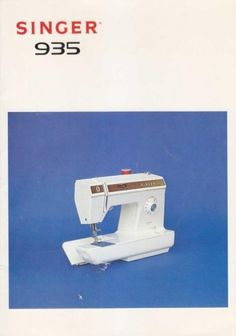 Singer 935 Sewing Machine Instruction Manual.  Here are just a few examples of what's included in this manual:  * Threading the machine. * Winding the bobbin. * Threading the bobbin case. * Regulating thread tension. * Flexi-Stitch patterns. * Straight stitch, Zig Zag And more. * Accessories. * Cleaning your machine. * Performance checklist.  52 page instruction manual.