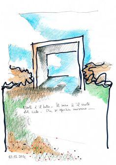Davide Vargas · complesso parrocchiale san paride · Divisare Watercolour, Diagram, San, World, Watercolor Painting, Watercolor, The World, Watercolor Art, Watercolors
