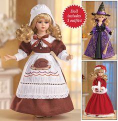 Seasonal Holiday Porcelain Collectible Doll