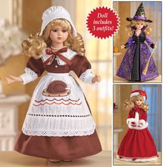 Seasonal Holiday Porcelain Collectible Doll