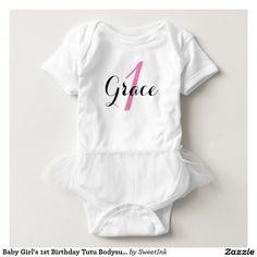 Baby Girl's 1st Birthday Tutu Bodysuit