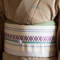 水引帯留 小うめ(裏葉色/藤色)│着物│浴衣