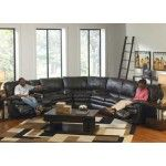 Catnapper - Perez 3 Piece Power Reclining Sectional Set in Steel - 64141-SECTIONAL-STEEL