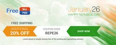Free Download Republic Day Banner PSD Files At FreeWebPsd.com **Like For latest Update : www.facebook.com/...