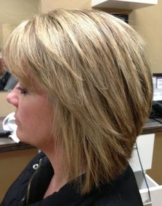 layered bob with highlights | Hairstyles