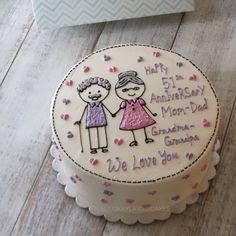 Buttercream Cake, Frosting, Korea Cake, Bee Bee, Gorgeous Cakes, Decorated Cakes, Cake Ideas, Cake Decorating, Cupcake