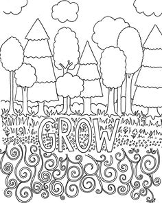 free coloring pages for adults trees flowers