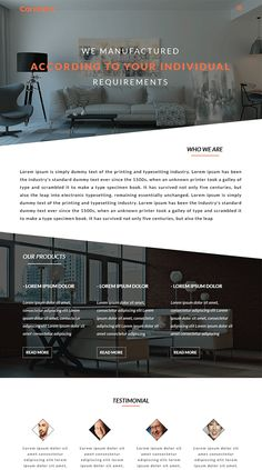 Free Web Template For Furniture Interior Website WebDesign WebsiteTemplate WebTemplate HTML