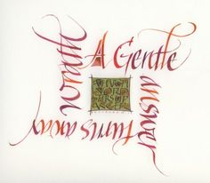 "Mary Noble is a very talented British calligrapher. ""A gentle answer turns away wrath. a harsh word stirs up anger Beautiful Lettering, Beautiful Calligraphy, Calligraphy Words, Modern Calligraphy, Creative Lettering, Hand Lettering, Harsh Words, Letter Art, Illuminated Manuscript"