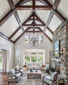 """best interior design ideas with farmhouse style 53 > Fieltro.Net""""> 53 Best Interior Design Ideas With Farmhouse Style Home Living Room, Living Room Designs, Cottage Living, Cottage Style, Modern Farmhouse, Farmhouse Style, Farmhouse Ideas, Rustic Style, Style At Home"""