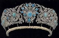 THE TECK TURQUOISE TIARA It was originally made for Princess Mary Adelaide, mother of Queen Mary.