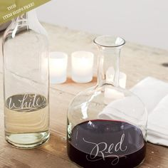 etched vino decanters - olive and cocoa Olive And Cocoa, O Ritual, Wine Carafe, Wine Bottles, Olives, In Vino Veritas, All Gifts, Wine Drinks, Beverages