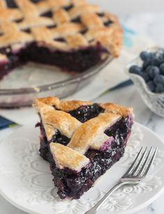 Ultimate Summer Blueberry Lattice Pie