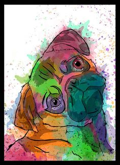 Quadro Pug - Dog in Art
