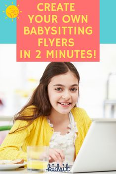 Want to learn how to create your own babysitting flyers? With the free online tool on our website, you'll be able to design cute flyers to promote your babysitting business! Get more sitting job opportunities by posting flyers near places where local parents with kids are most likely to see them. #babysitting #jobsforteens #babysitter #sittingjobs #childcare #caregivers Babysitting Flyers, Babysitting Kit, Babysitting Activities, Jobs For Teens, Flyer Free, Kids Growing Up, Happy Family, Childcare, Games For Kids