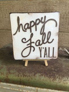 Happy Fall Y'all  Seasonal accent wood by WellHungDesigns on Etsy