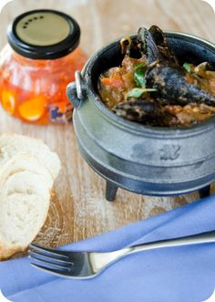 Spicy Seafood Potjie (South Africa by The Food and the Fabulous), Hello I would Like new friend to share pins. South African Dishes, South African Recipes, Ethnic Recipes, Curry Stew, Outdoor Food, Outdoor Cooking, Biltong, Dutch Oven Recipes, Jamaican Recipes