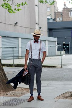 Suspenders into play #urbanfashion I Love Black