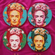Frida Kahlo by v cool Stencil Pop Artist Alex Hamilton